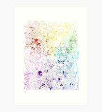 Complete Kanto and Johto Rainbow Art Print