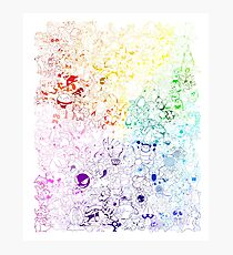 Complete Kanto and Johto Rainbow Photographic Print