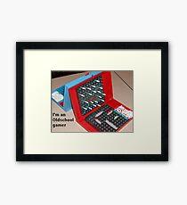 Oldschool gamer Framed Print