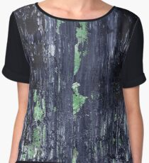 Under The Rocks Abstract Painting Women's Chiffon Top