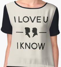 Star Wars - I Love You, I Know (Black) Chiffon Top