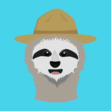 Ranger Sloth with hat by ilovecotton