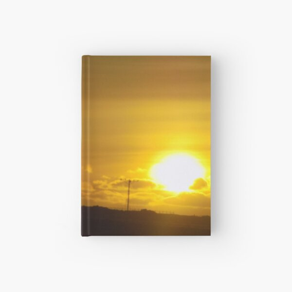 Sunset in Reykjavik, Iceland Hardcover Journal