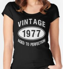 Vintage 1977 Birthday Women's Fitted Scoop T-Shirt