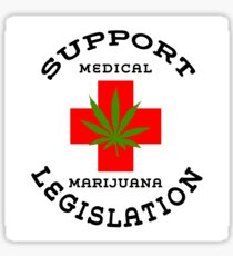 Support Medical Marijuana Sticker