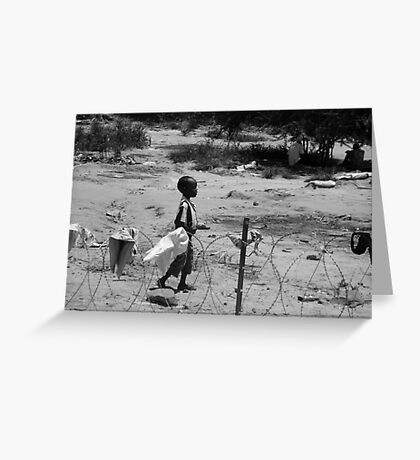 Boy on the wire Greeting Card