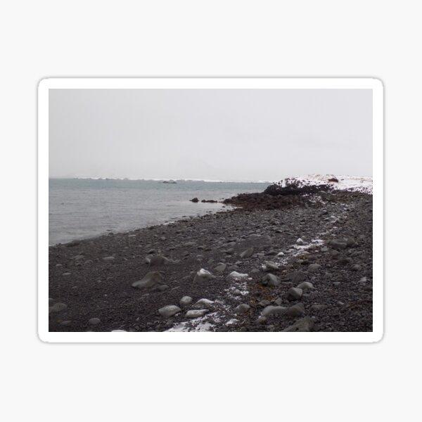 Volcanic Beach in Reykjavik Sticker