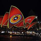 Sydney (coin) Opera(-ted) House @ Vivid Festival by muz2142