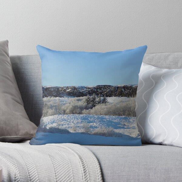 Frozen Iceland Throw Pillow