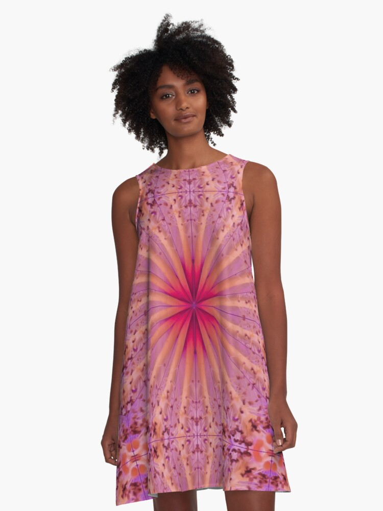 Hibiscus Star A-Line Dress Front