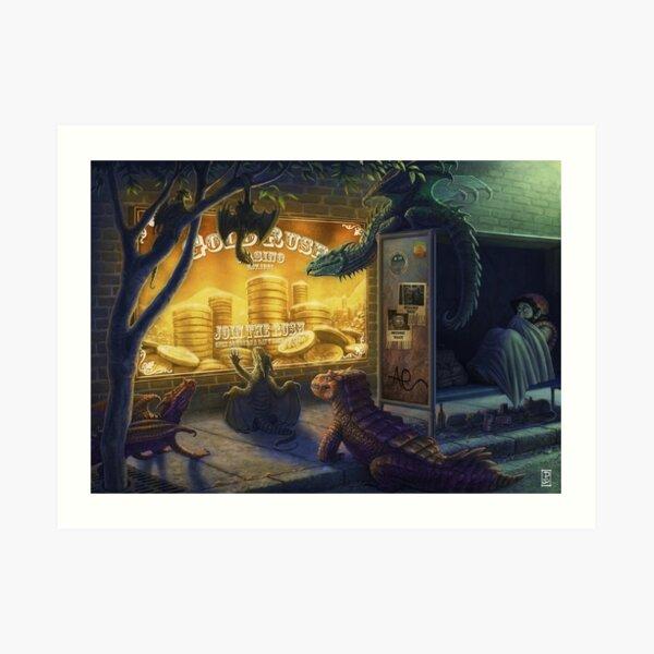 Dragon Gold Rush Art Print