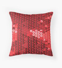 shiny red sequins Throw Pillow