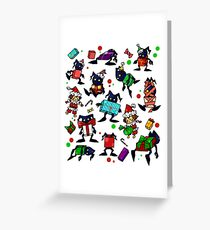 KH-Heartless Presents (White) Greeting Card