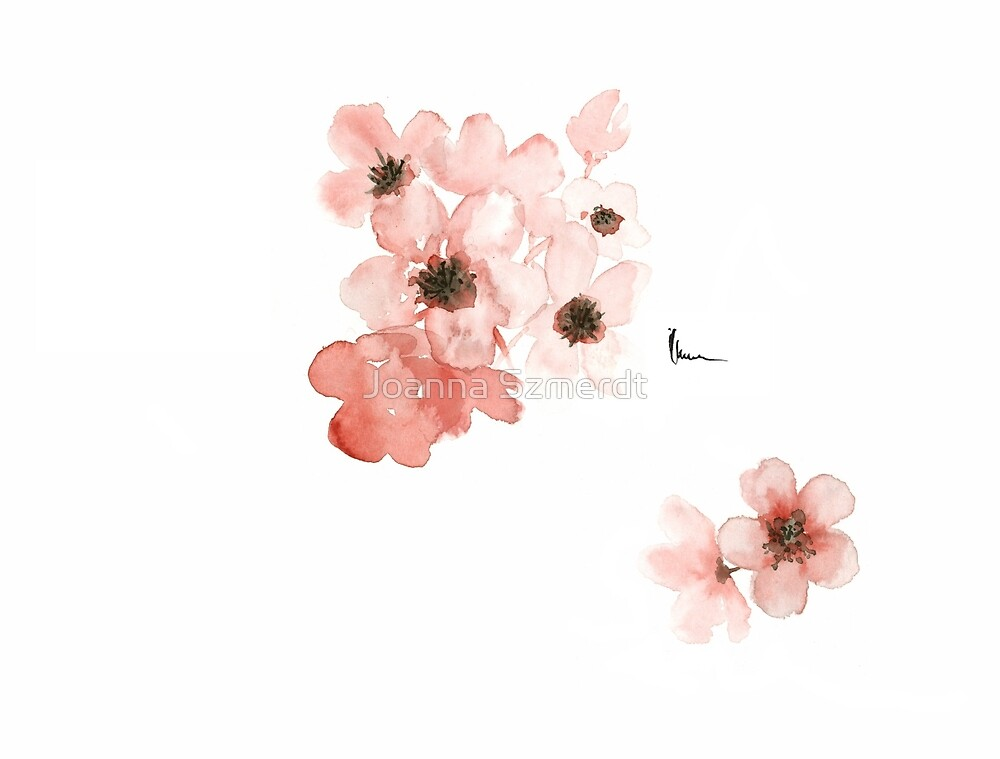 Quot Cherry Blossom Art Print Watercolor Painting Flowers