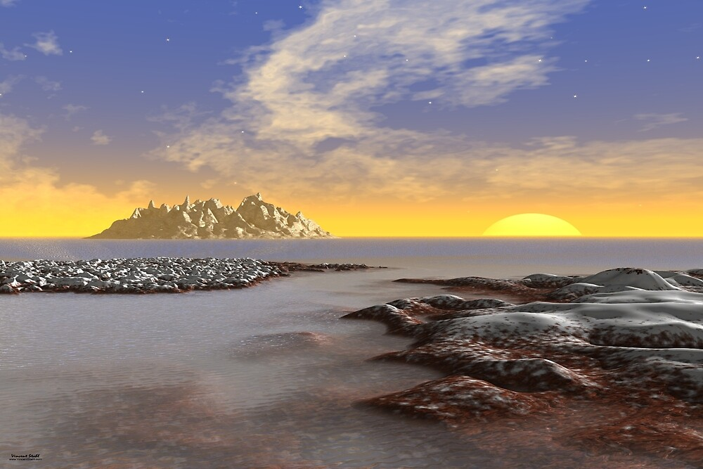 Ice Coast Sunset by stahlworks