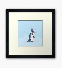 The dapper penguin Framed Print