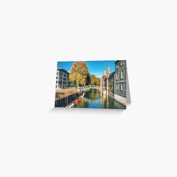 Mathematical Bridge, Cambridge Greeting Card