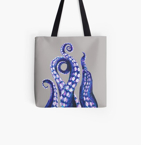 Octopus Tentacles All Over Print Tote Bag