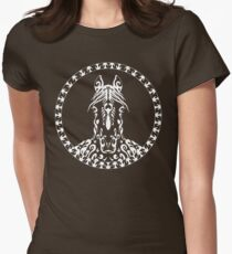 artistic horse face Womens Fitted T-Shirt