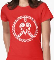heart and peace symbol Womens Fitted T-Shirt