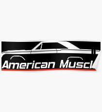American Muscle silhouette for 1968 Dodge Dart GTS enthusiasts Poster