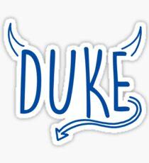 Blue Devils Doodle Sticker