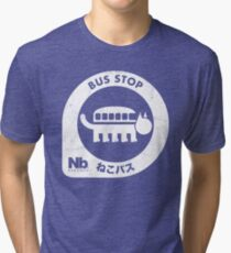 Neko Bus Stop Tri-blend T-Shirt