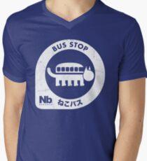 Neko Bus Stop Men's V-Neck T-Shirt