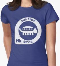 Neko Bus Stop Women's Fitted T-Shirt