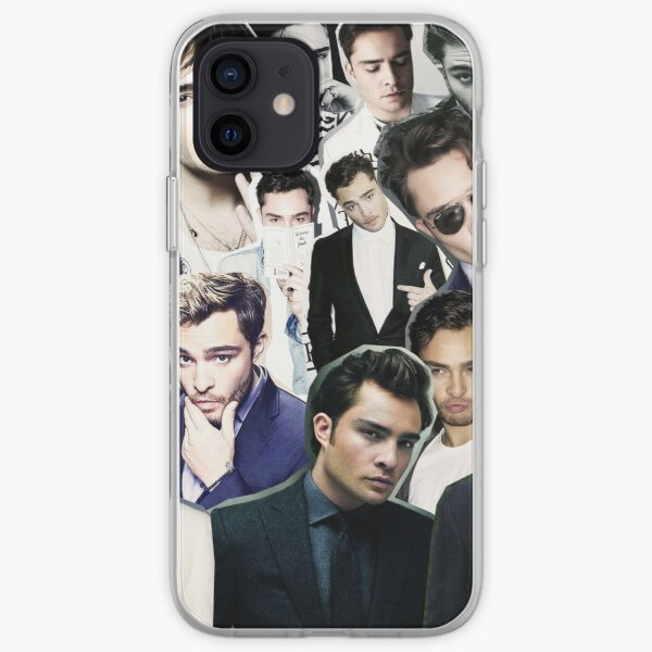 ed westwick collage Coque souple iPhone