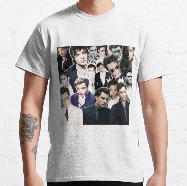 ed westwick collage Camiseta clásica