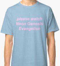 Camiseta clásica por favor mire Neon Genesis Evangelion