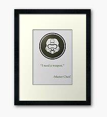 Green Halo Master Chief Helmet Icon Framed Print