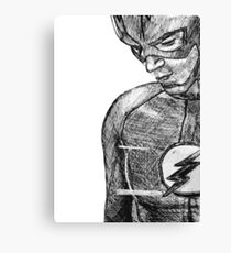The Flash Barry Allen Sketch Canvas Print