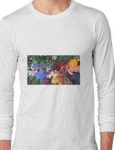 Beautiful colourful flowers  Long Sleeve T-Shirt
