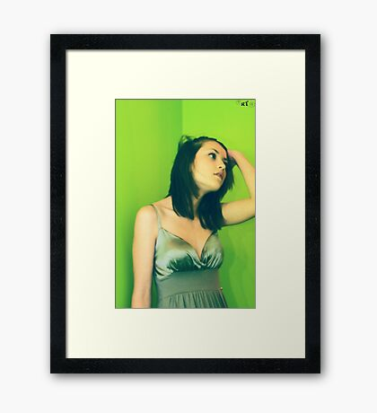 a long day Framed Print