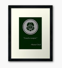 Gray Halo Master Chief Icon Framed Print