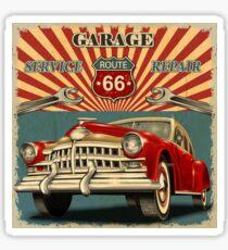 Retro Route 66 Sticker
