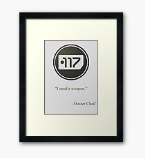 Green Halo Master Chief Dog Tag Icon Framed Print