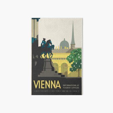 Vintage Travel Poster Vienna Art Board Print