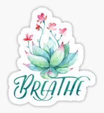 Aquarell Succulent atmen Yoga Sticker