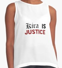Death Note Kira Is Justice Contrast Tank