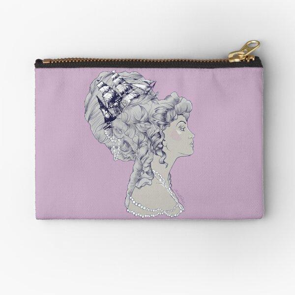 Marie Antoinette Rococo Ship hair Zipper Pouch