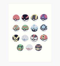 Pokemon Balls Art Print