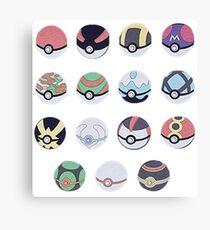 Pokemon Balls Canvas Print