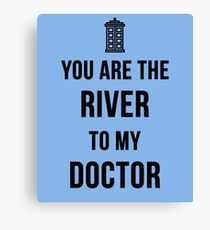River+Doctor Canvas Print