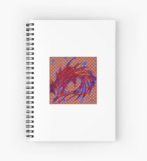 Dragon head in abstract and geometry  Spiral Notebook
