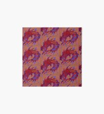 Dragon head in abstract and geometry  Art Board