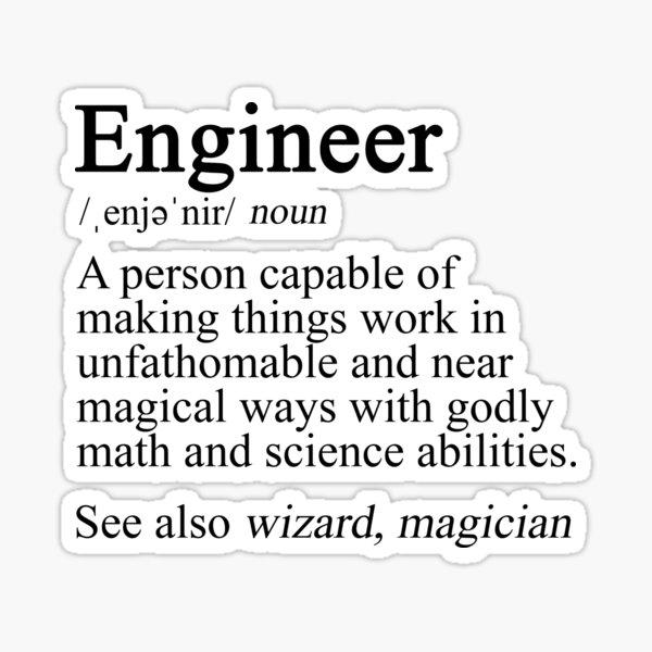 Engineer Definition Sticker