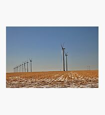 Winter Wind Turbines #5 Photographic Print
